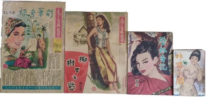 大小不同的四本「三毫子小說」(蕭永龍提供)
